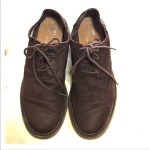 Toms Men's Brogue Aviator Twill Oxford Shoes  9.5
